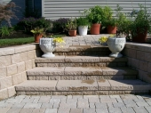 Hardscape stairs with pavers Dayton Ohio